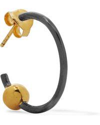 Maria Black Orion Gunmetal And Gold-tone Earring - Metallic