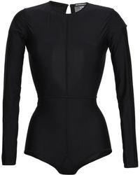 Ann Demeulemeester - Open-back Stretch-jersey Bodysuit - Lyst