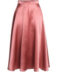 ROKSANDA Branca Flared Silk-satin Skirt Antique Rose - Pink