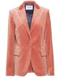 FRAME Cotton-blend Velvet Blazer Antique Rose - Pink