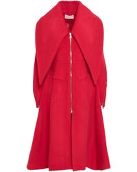 Antonio Berardi Wool-blend Felt Coat Red
