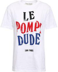Être Cécile Être Cécile Printed Cotton-jersey T-shirt White