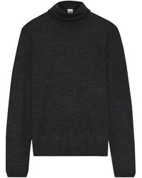 Iris & Ink Katri Cashmere And Silk-blend Turtleneck Jumper Charcoal - Grey