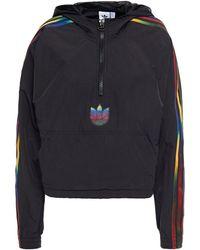 adidas Originals Printed Shell Hooded Jacket Black