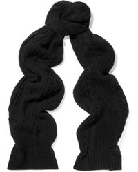 N.Peal Cashmere - Cable-knit Cashmere Scarf - Lyst
