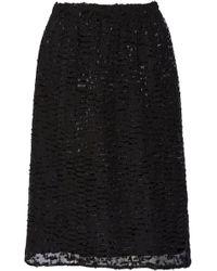 Studio Nicholson Ayoma Fil Coupé Skirt - Black