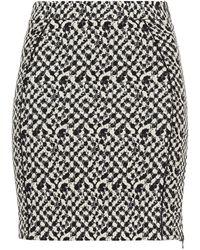 Hofmann Copenhagen Julia Printed Cotton-blend Jacquard Mini Skirt - Black