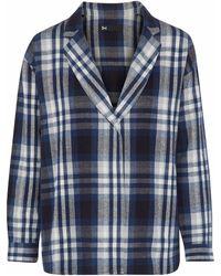 3x1 Moxy Checked Cotton-flannel Blazer Navy - Blue