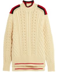 Isabel Marant - Edison Oversized Cable-knit Wool-blend Sweater - Lyst