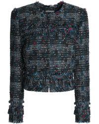 Diane von Furstenberg - Fringed Bouclé-tweed Jacket - Lyst