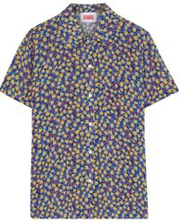 Solid & Striped The Cabana Printed Voile Shirt - Blue