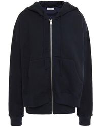 CLU French Cotton-terry And Satin-twill Hoodie - Blue