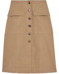 Acne Studios Irene Cotton-twill Skirt - Brown