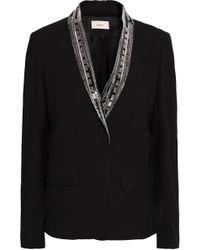 Ba&sh - Embellished Crepe Blazer - Lyst