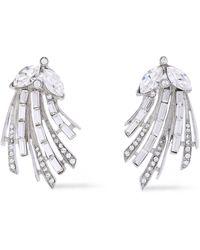 Ben-Amun Silver-tone Crystal Earrings Silver - Metallic