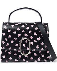 3.1 Phillip Lim Alix Mini Floral-print Leather Shoulder Bag Black