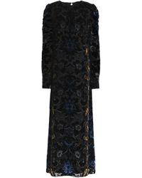 Anna Sui - Devoré-velvet Maxi Dress - Lyst