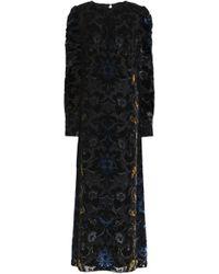 Anna Sui - Woman Devoré-velvet Maxi Dress Black - Lyst