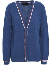 Vanessa Seward - Flint Striped Cotton-blend Terry Cardigan - Lyst