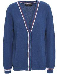 Vanessa Seward - Woman Knitted Cotton-blend Cardigan Indigo - Lyst