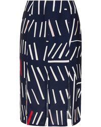 Rejina Pyo Kelly Printed Crepe Skirt - Blue