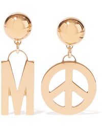 Moschino - Gold-tone Clip Earrings - Lyst