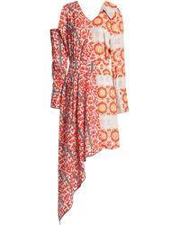 Raoul - Asymmetric Cutout Printed Crepe Dress - Lyst