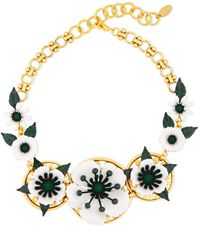 Elizabeth Cole - 24-karat Gold-plated, Crystal And Resin Necklace Gold - Lyst
