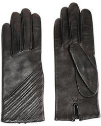 Rag & Bone Slant Leather Gloves Black