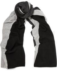 Magaschoni Color-block Cashmere Scarf - Black