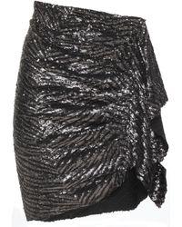 IRO - Saria Sequined Gathered Draped Woven Mini Skirt - Lyst