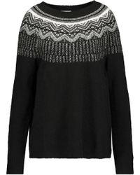 Joie - Intarsia-knit Wool-blend Jumper - Lyst