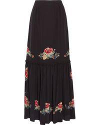 Vilshenko - Alenka Printed Silk Crepe De Chine Maxi Skirt - Lyst
