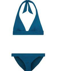 Iris & Ink Stella Triangle Bikini Petrol - Blue