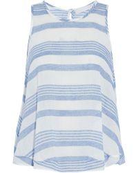 Kain - Striped Cotton-gauze Top - Lyst