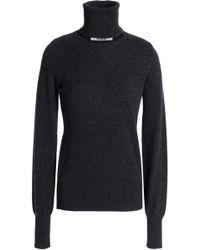 Chalayan - Cutout Cashmere Turtleneck Sweater Dark Gray - Lyst