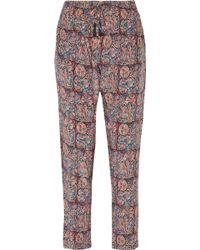 Figue | Kerala Printed Silk-voile Pants | Lyst