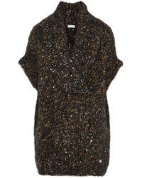 Brunello Cucinelli - Sequin-embellished Marled Knitted Jumper - Lyst