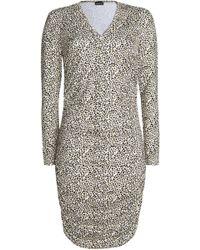 Just Cavalli - Leopard-print Stretch-knit Dress Animal Print - Lyst