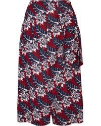Thakoon - Wrap-effect Printed Crepe Culottes - Lyst