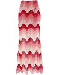 Mary Katrantzou Crochet-knit Maxi Skirt - Pink