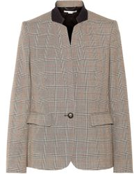 Stella McCartney - Fleur Prince Of Wales Wool Blazer - Lyst