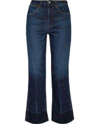 Rag & Bone - Lou Cropped High-rise Straight-leg Jeans - Lyst
