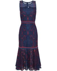 Jonathan Simkhai - Fluted Corded Lace Dress - Lyst