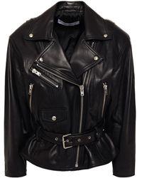 IRO Ikem Leather Biker Jacket - Black