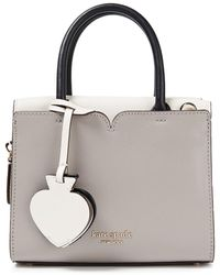 Kate Spade Spencer Mini Two-tone Textured And Smooth Leather Tote - Multicolour