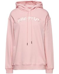 McQ Embroidered French Cotton-terry Hoodie Baby Pink