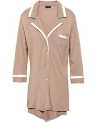 Cosabella Pima Cotton And Modal-blend Jersey Nightshirt Light Brown