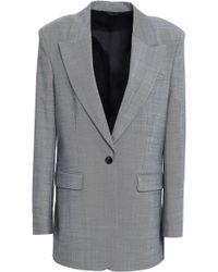 Filippa K Woven Blazer Grey - Gray
