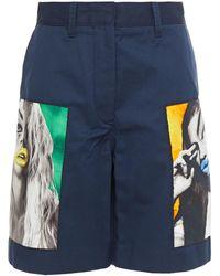 Acne Studios Appliquéd Twill Shorts - Blue